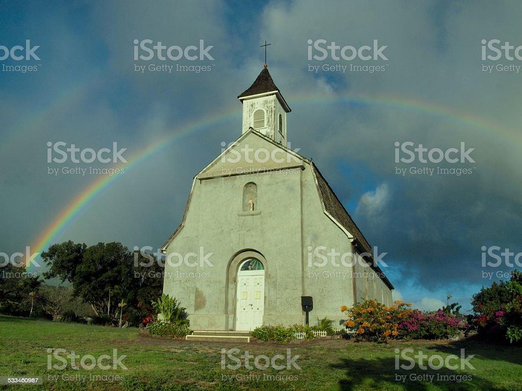 The Church at Kaupo stock photo