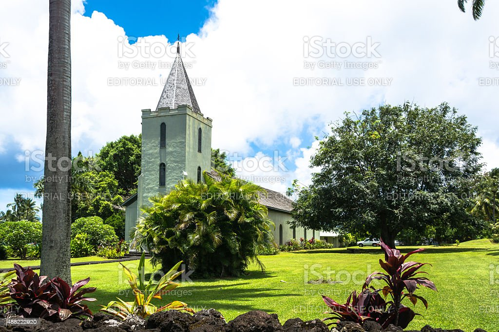 The Church in Hana, Maui, Hawaii stock photo
