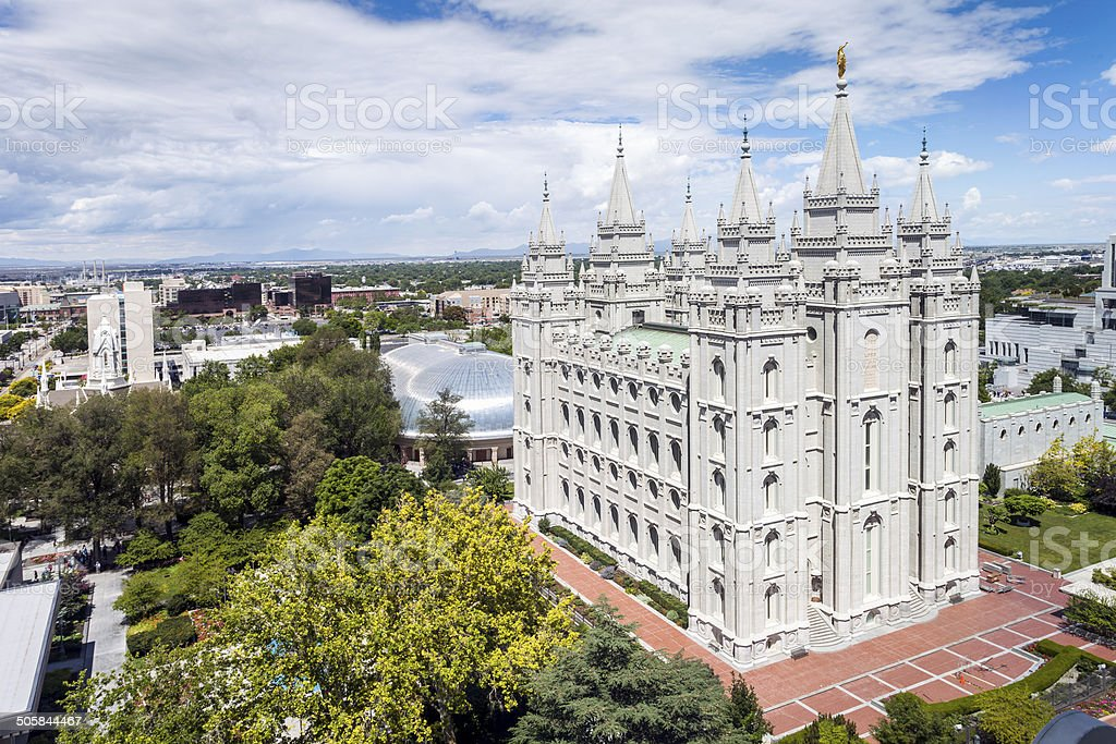 The Church Jesus Christ of Latter-day Saints' Temple stock photo
