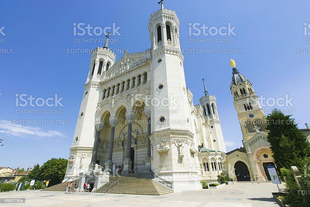 The church 'Notre Dame de la Fourvière' stock photo