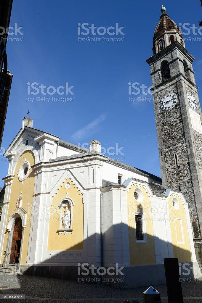 The church of Ascona stock photo