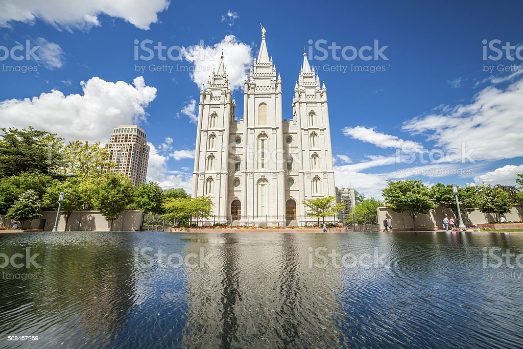 The Church of Jesus Christ Latter-day Saints' Temple stock photo
