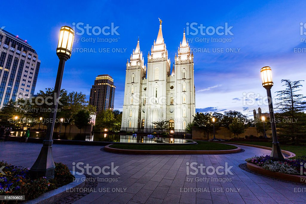 The Church of Jesus Christ of Latter-day stock photo
