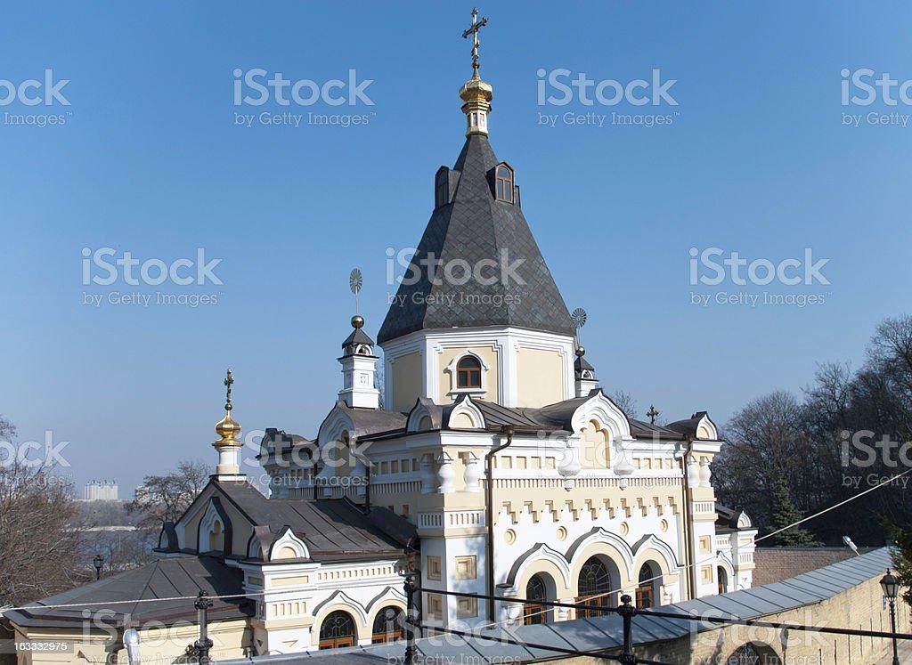 The Church of Life-Giving Spring, Kiev-Pechersk Lavra royalty-free stock photo
