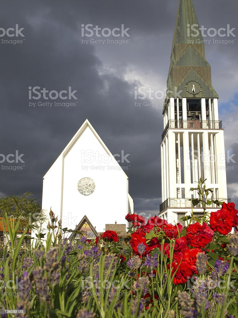 The church of Molde stock photo