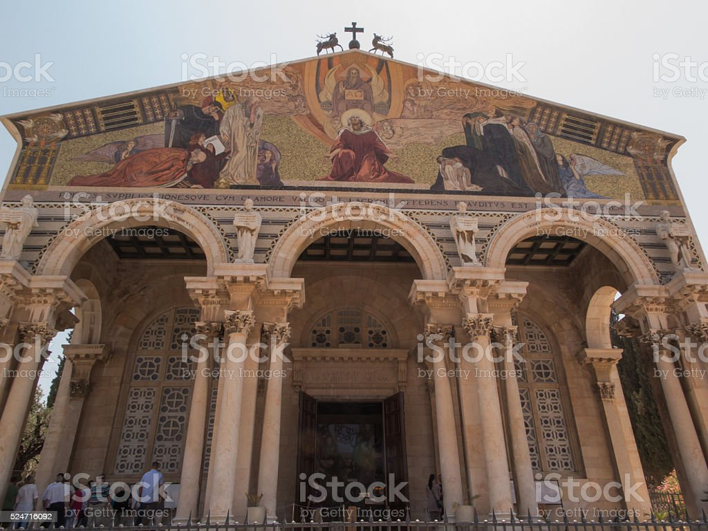 The church of  mount of olives in Jerusalem, Israel stock photo