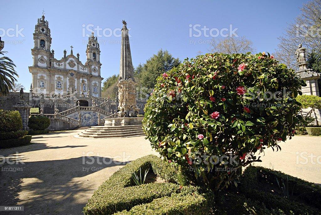 The Church of Nossa Senhora dos Remedios, Lamego, Portugal. royalty-free stock photo