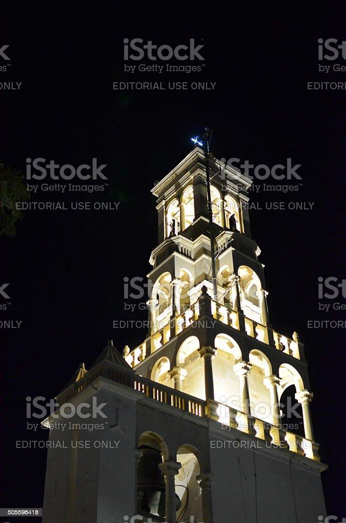 The Church of Panagia Megalochari in Tinos stock photo