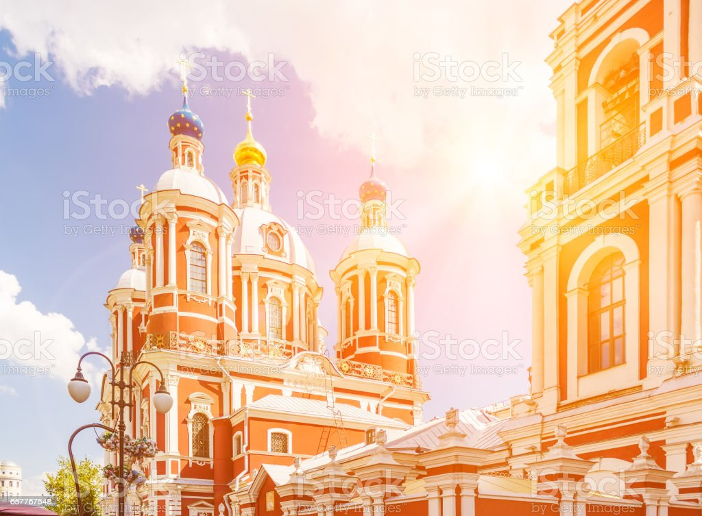 The church of Saint Clement of Rome in Moscow stock photo