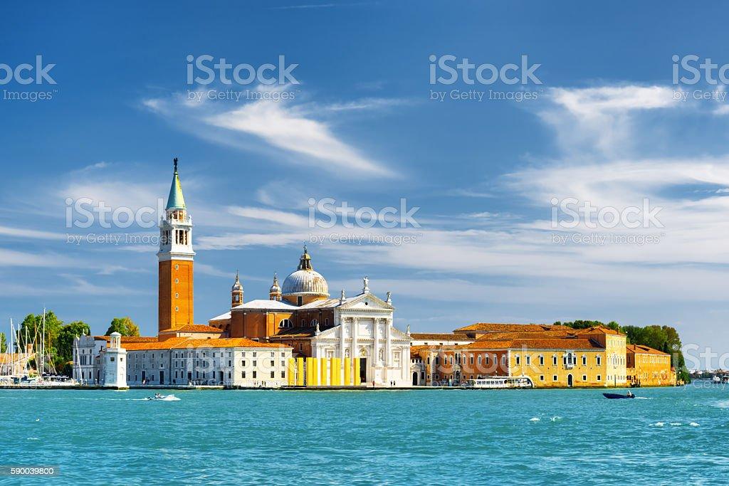 The Church of San Giorgio Maggiore in Venice, Italy stock photo