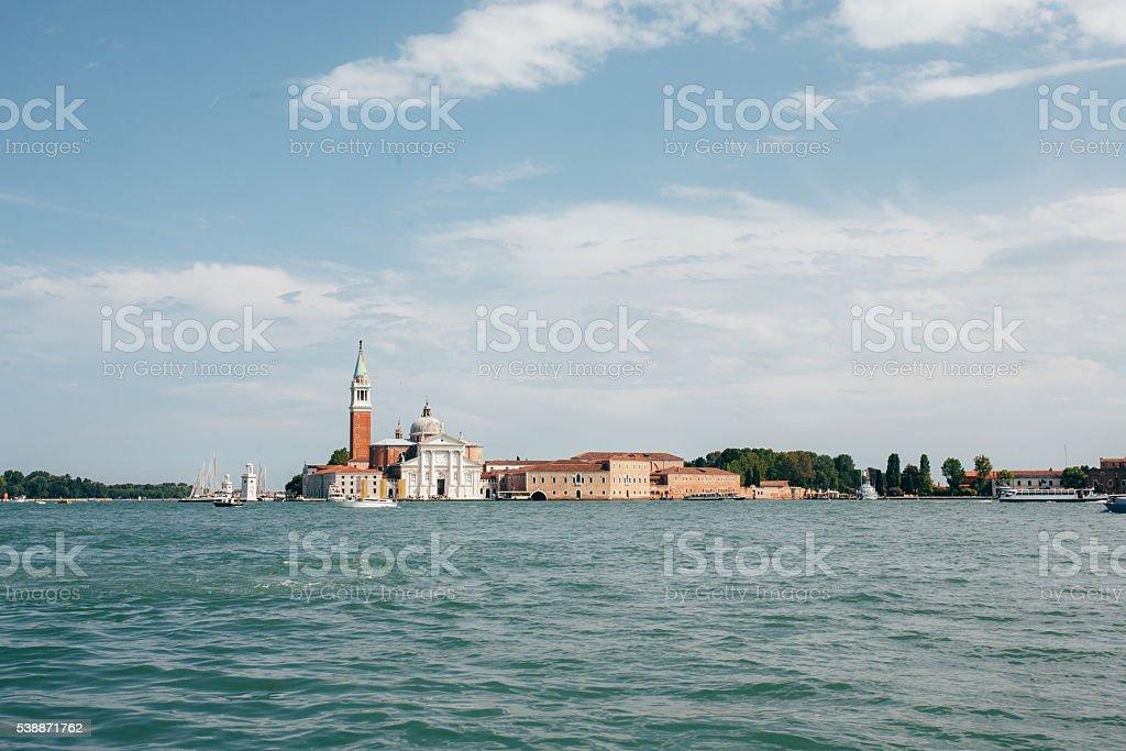 the Church of San Giorgio Maggiori, Venice stock photo