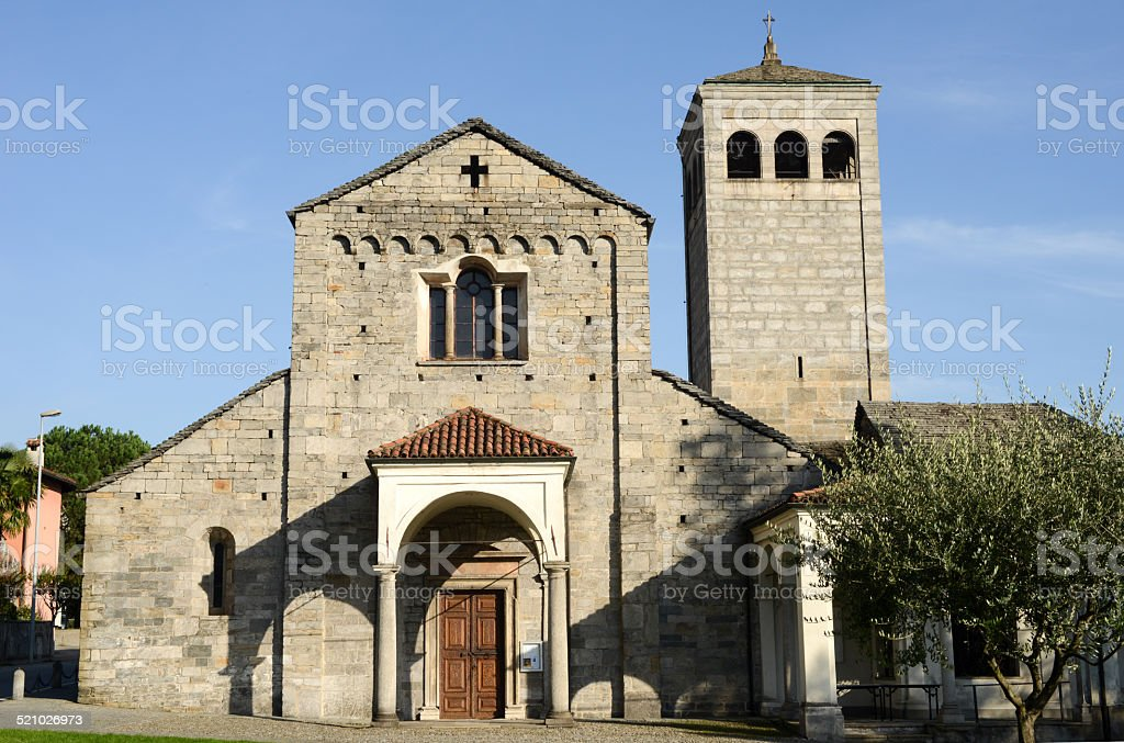 The church of San Vittore at Muralto stock photo
