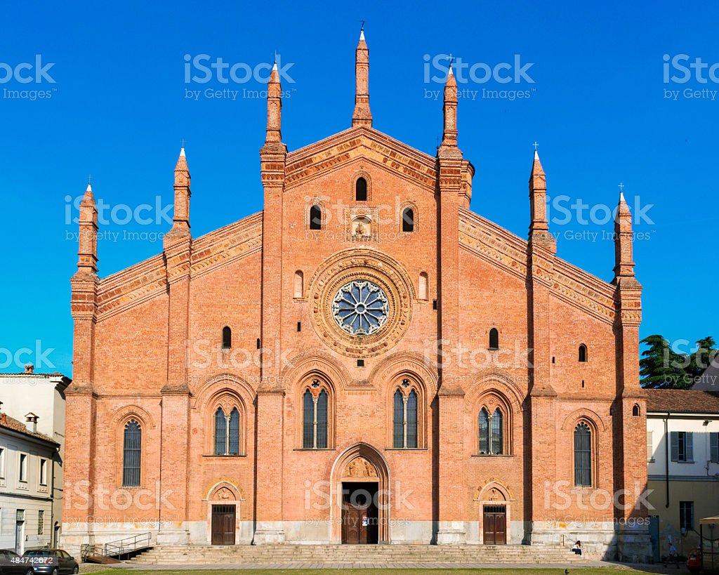 The church of 'Santa Maria del Carmine' in Pavia stock photo
