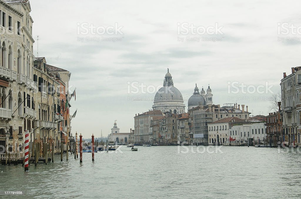 The church of Santa Maria della Salute in Venice royalty-free stock photo