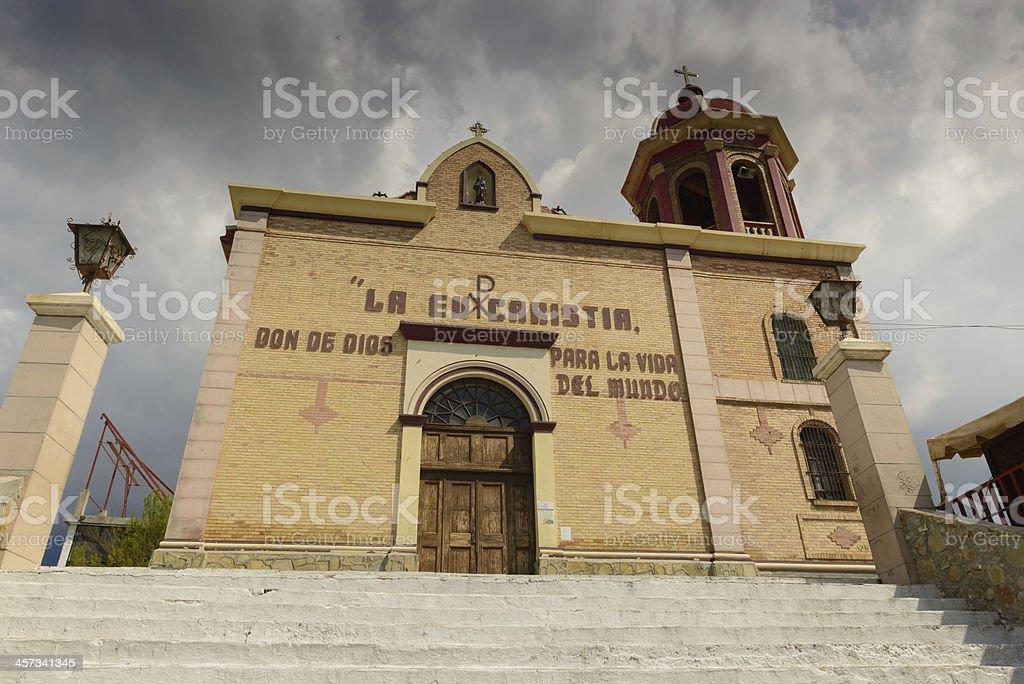 The church of Santo Cristo in Saltillo, Mexico stock photo