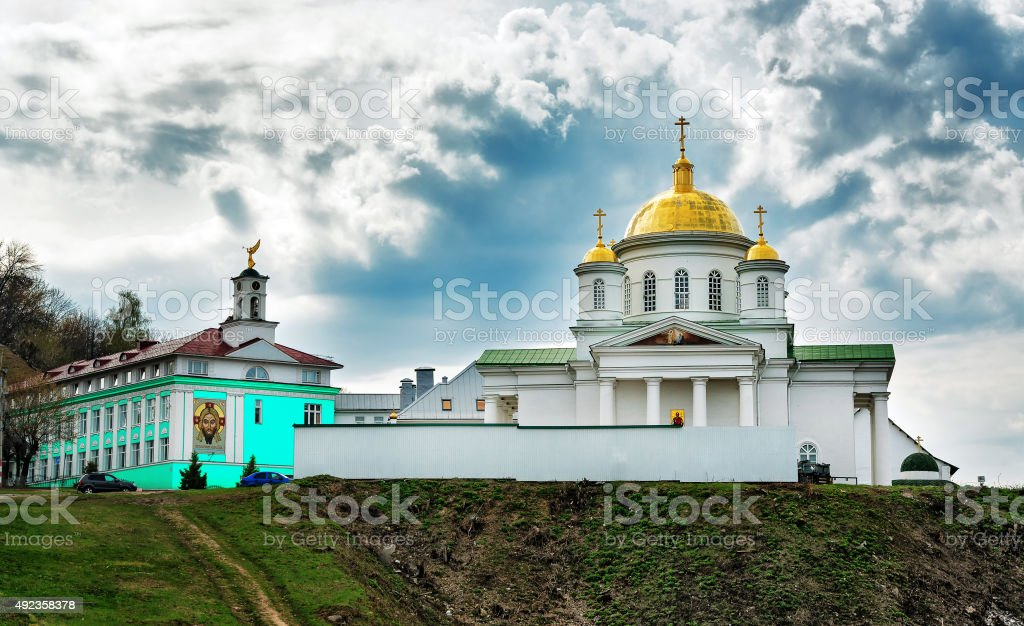 The Church of St. Alexis in the Annunciation monastery stock photo