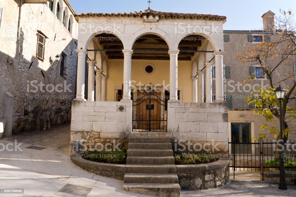 The Church of St. Anthony , Vrsar, Croatia stock photo