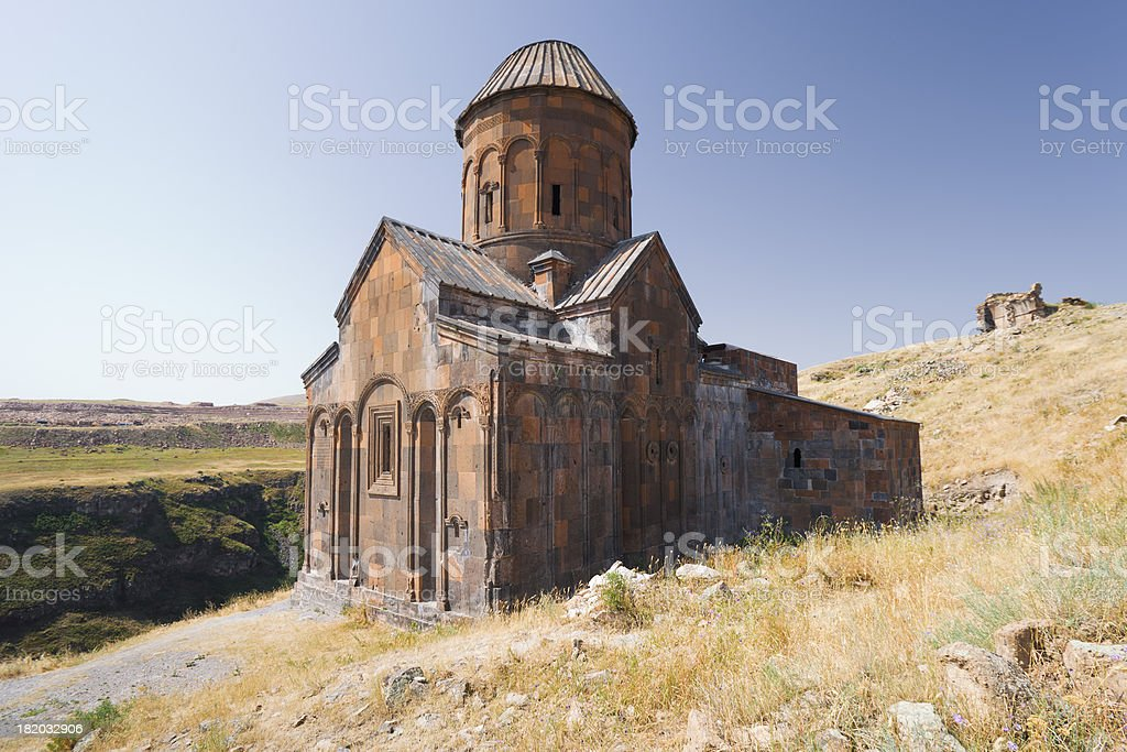 The church of St Gregory in Ani stock photo