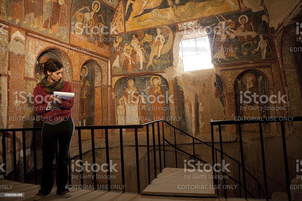 The Church of St. John (Kar?? Kilise), Cappadocia, Turkey royalty-free stock photo