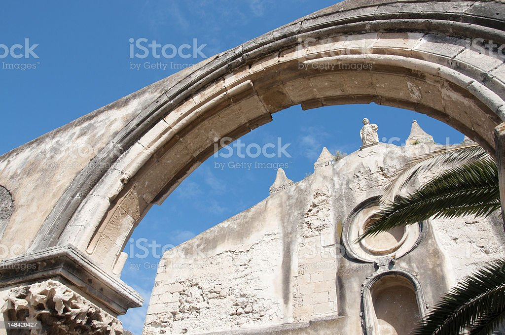 The church of St John, Siracusa (San Giovanni) royalty-free stock photo