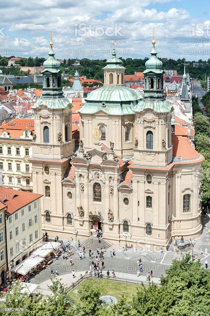 The Church of St Nicholas , Prague, Czech Republic stock photo