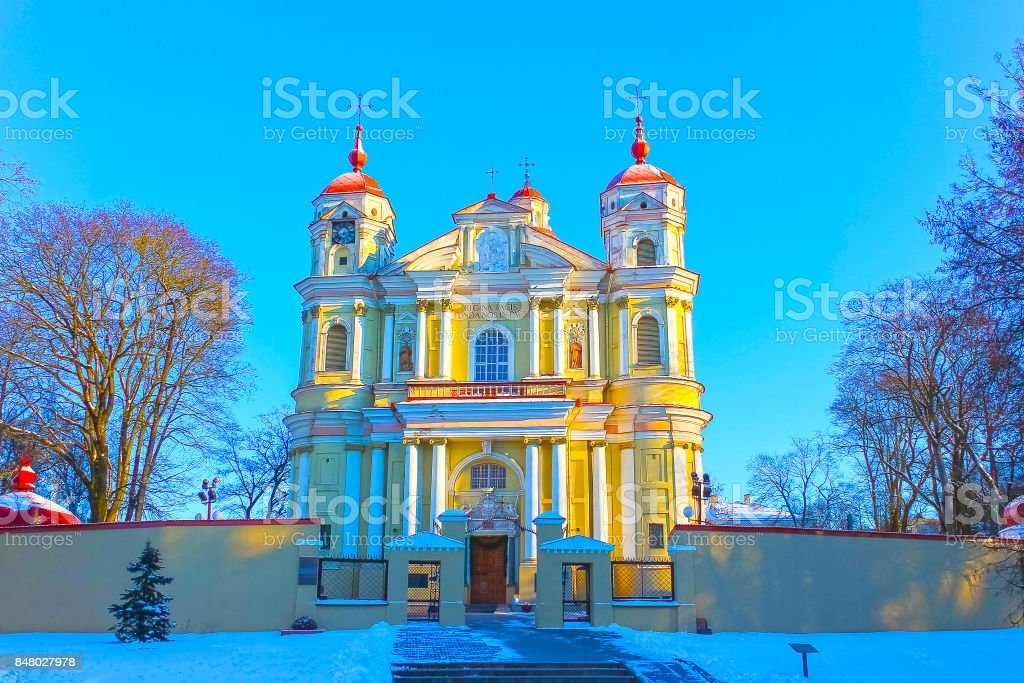the church of St Peter and St Paul in Vilnius - capital of Lithuania stock photo
