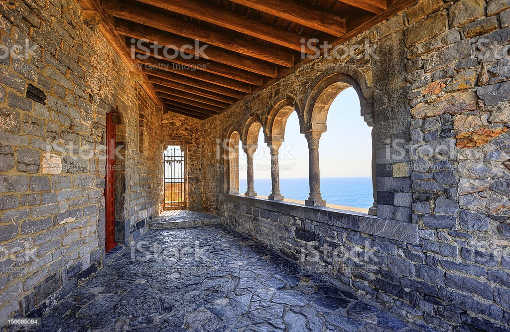 The church of St. Peter in Porto Venere, Italy royalty-free stock photo