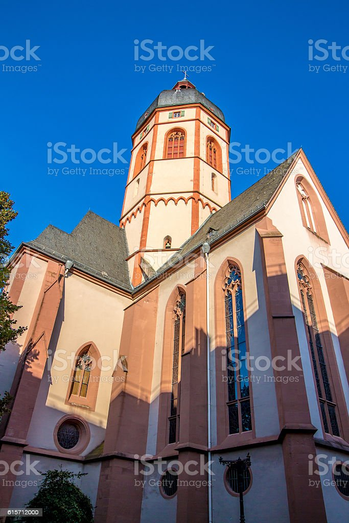 The Church of St. Stephan in Mainz, Germany stock photo