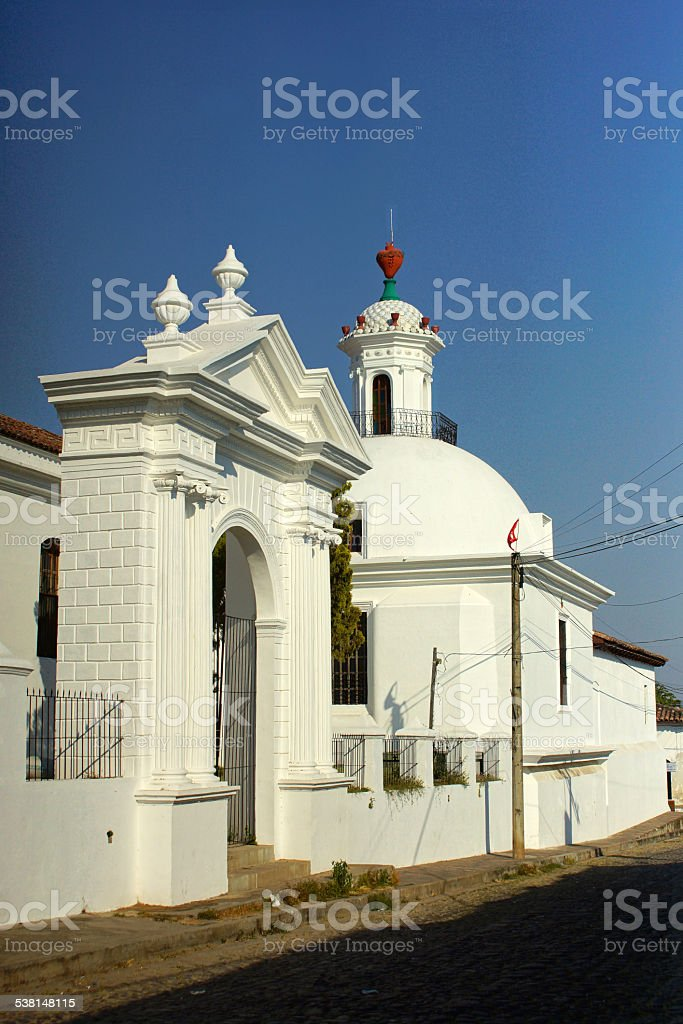 The church of Suchitoto - El Salvador stock photo
