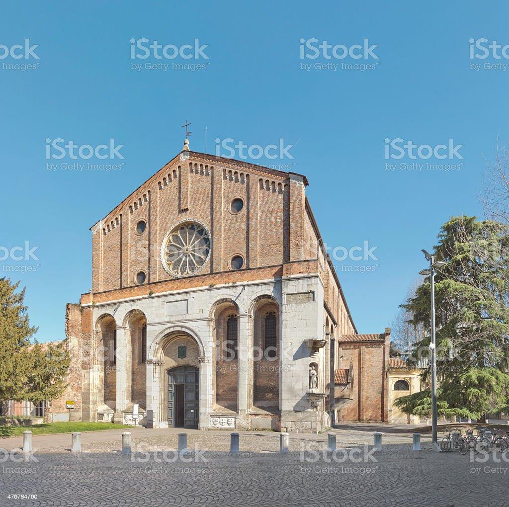 The Church of the Eremitani in Padua, Italy stock photo