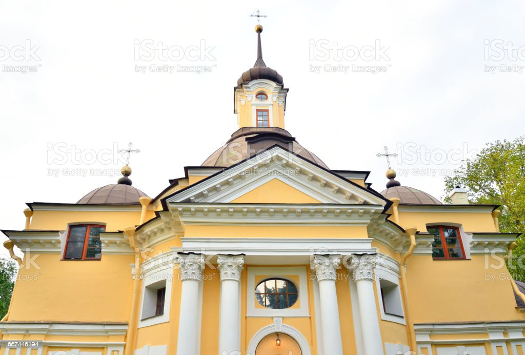 The Church of the Holy Apostles Peter and Paul in Znamenka. stock photo