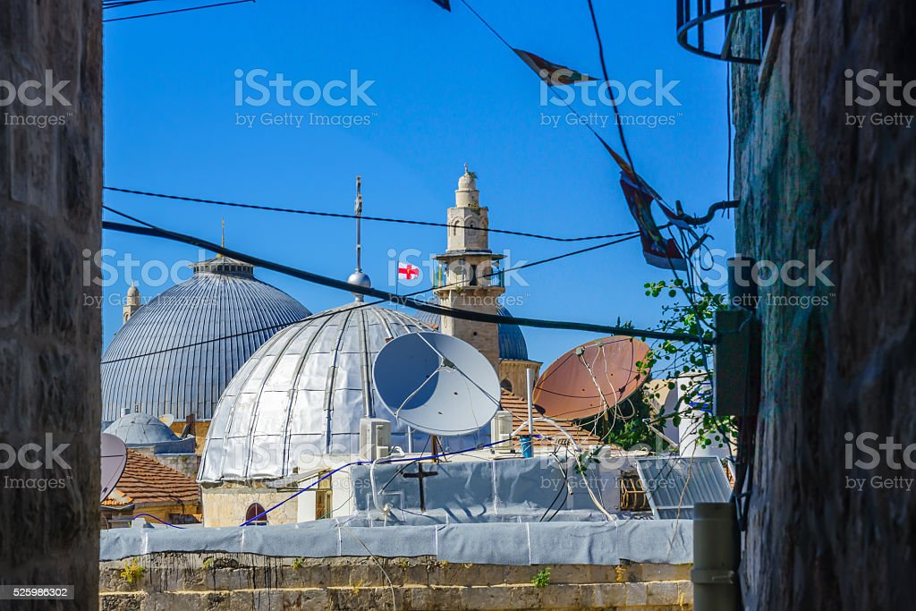 The church of the Holy Sepulcher, Jerusalem stock photo