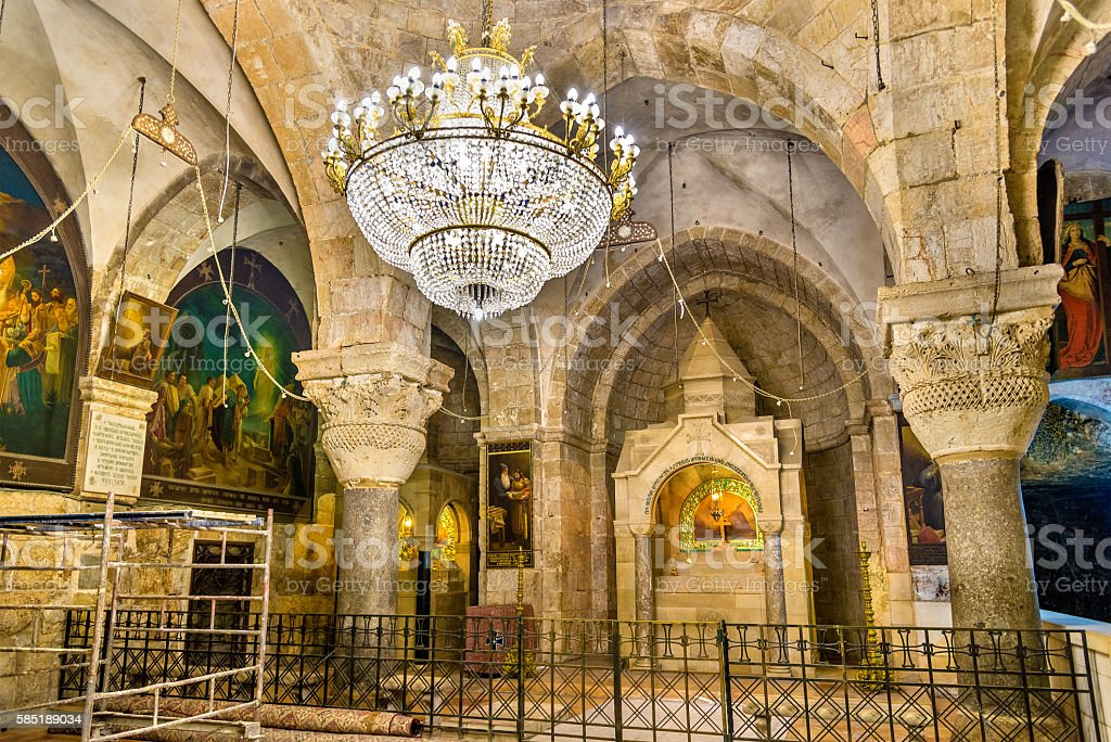 The Church of the Holy Sepulchre - Jerusalem stock photo