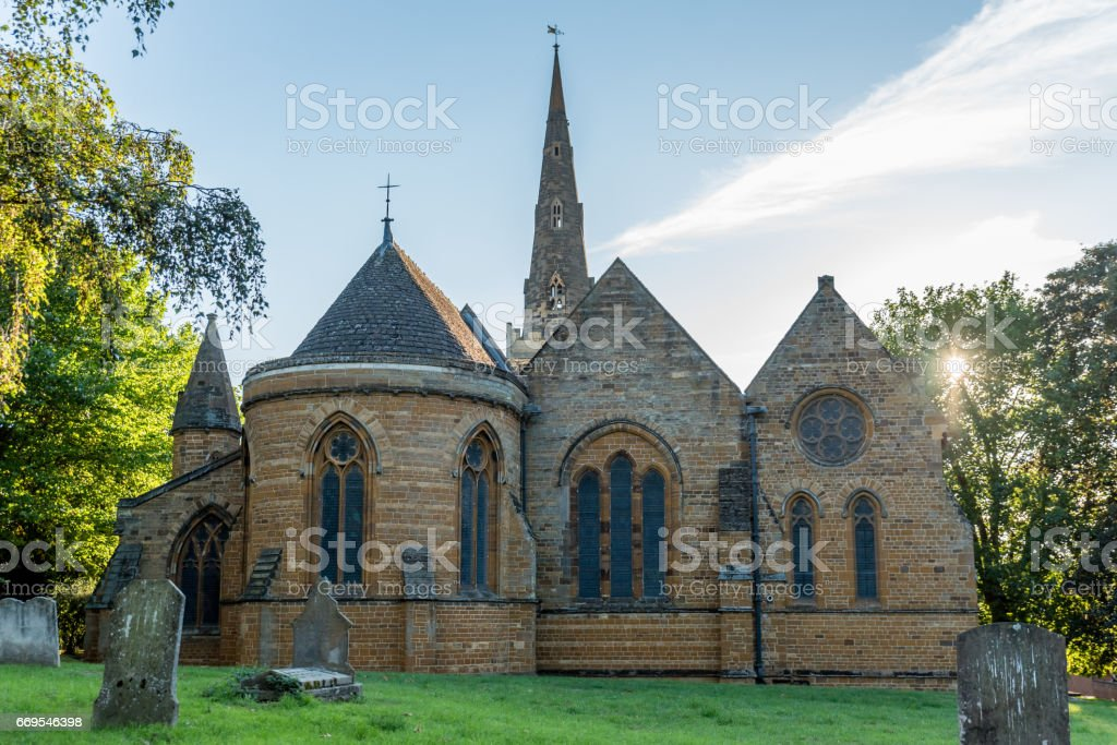 The Church of the Holy Sepulchre Northampton England. stock photo