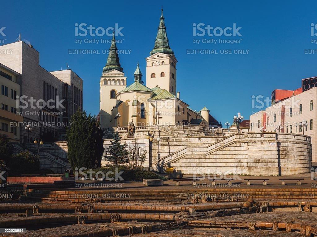 The Church of the Holy Trinity, Zilina, Slovakia stock photo
