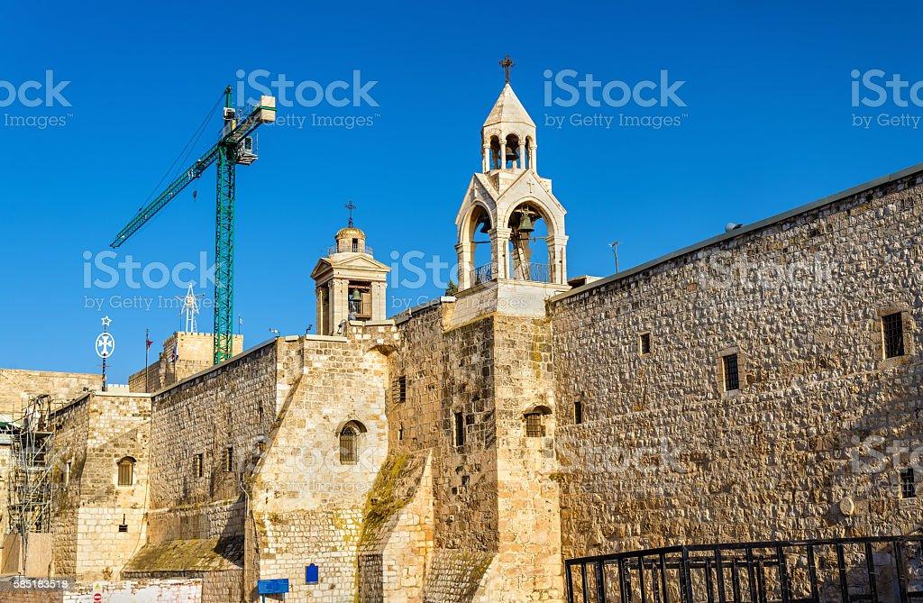 The Church of the Nativity in Bethlehem, Palestine stock photo