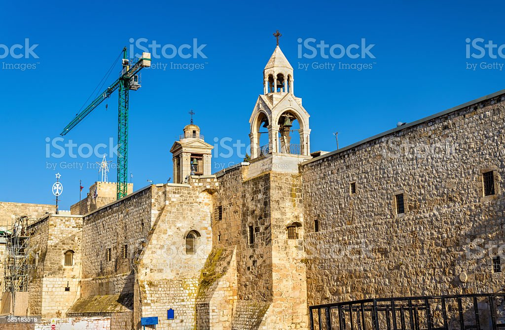 The Church of the Nativity in Bethlehem, Palestine stock photo