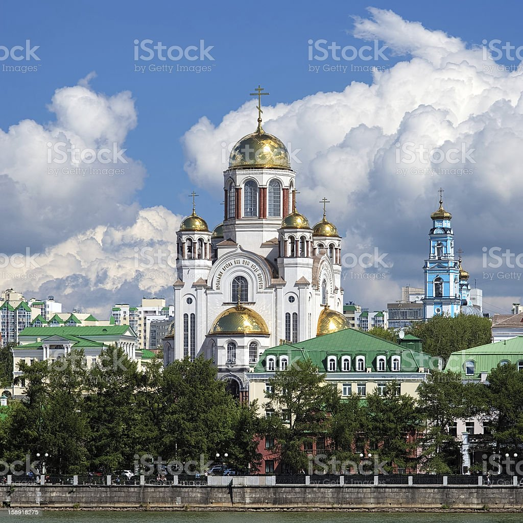 The Church on Blood in Yekaterinburg, Russia stock photo