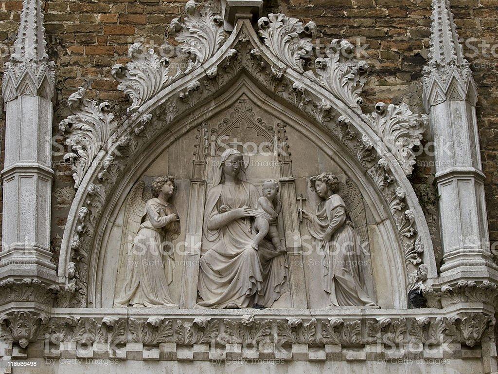 The church Santa Maria Gloriosa dei Frari - Venice Italy stock photo