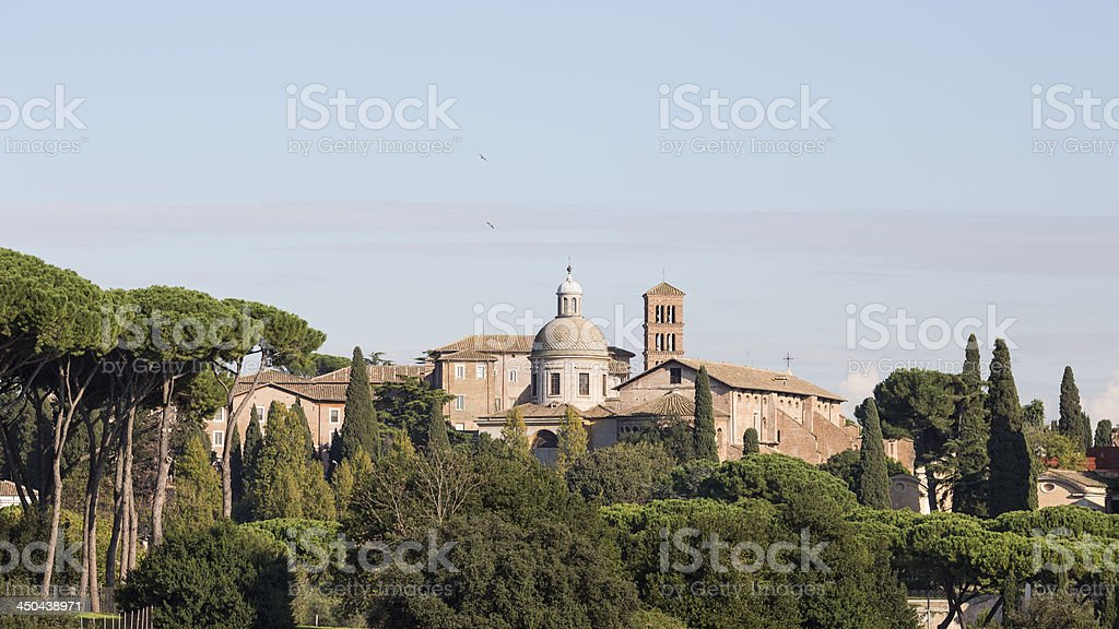 The Church SS.Giovanni e Paolo in Rome, Italy royalty-free stock photo