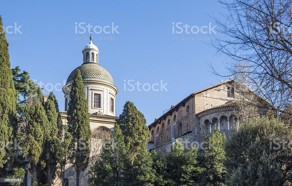 The Church SS.Giovanni e Paolo in Rome, Italy stock photo