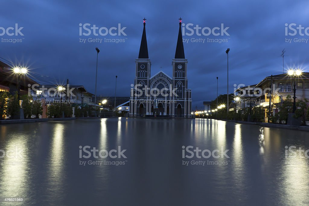 The church was flooded evening royalty-free stock photo