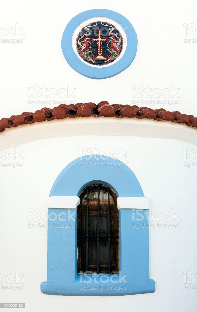 The Churche of Agios Nikolaos in Porto Lagos, Greece stock photo