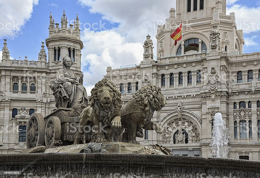 The Cibeles Fountain stock photo