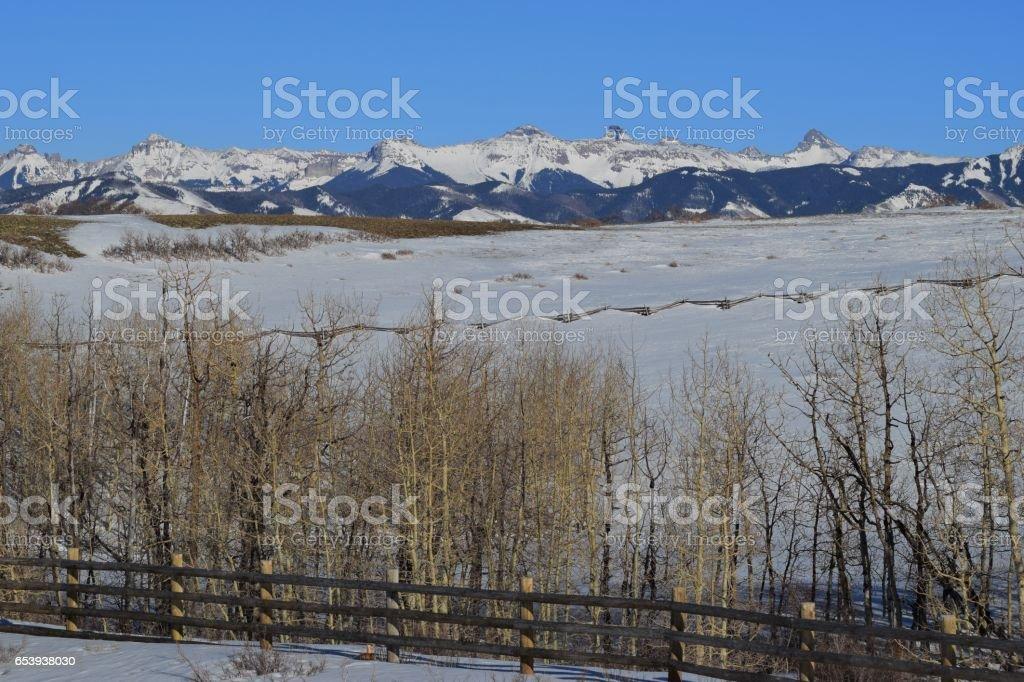 The Cimarron Range stock photo
