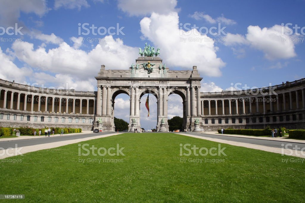 The Cinquantenaire Arch (Brussels) stock photo