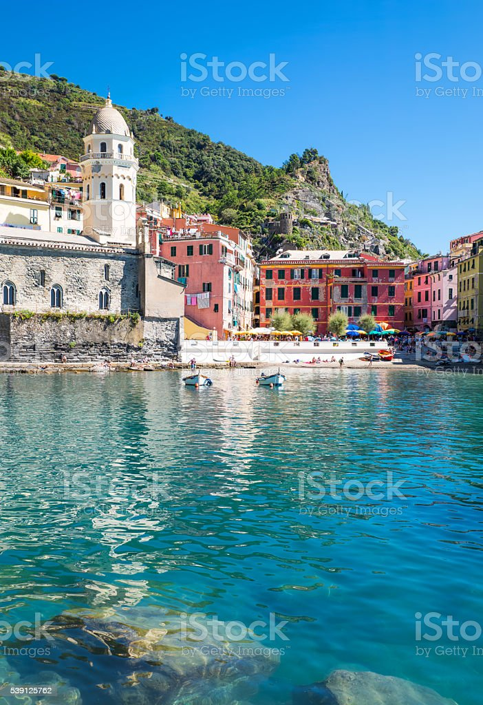 The Cinque Terre National Park stock photo