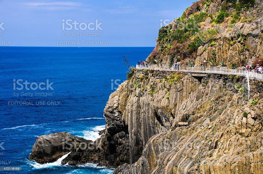 The Cinque Terre Trail stock photo