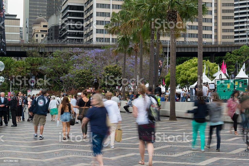 The Circular Quay, Sydney Australia stock photo