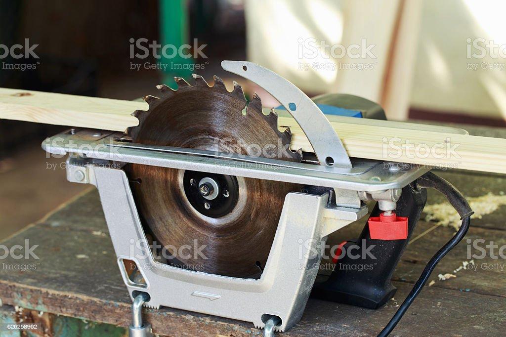 the circular saw stock photo